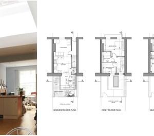 Kings Cross Camden NW1 House extension Design floor plans 300x266 King's Cross, Camden NW1 | House extension