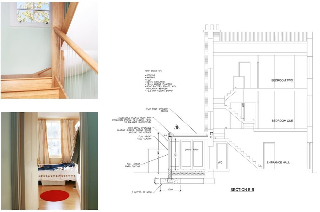 Kings Cross Camden NW1 House extension Technical section 1200x794 King's Cross, Camden NW1 | House extension