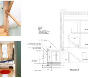 Kings Cross Camden NW1 House extension Technical section 300x266 King's Cross, Camden NW1 | House extension