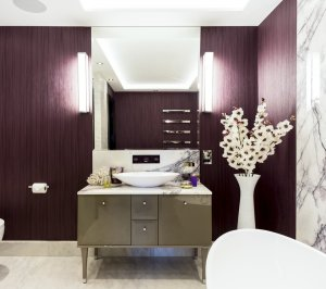 St James Park Westminster SW1H Penthouse alterations and refurbishment En suite bathroom 1 300x266 St James Park, Westminster SW1H | Penthouse alterations and refurbishment