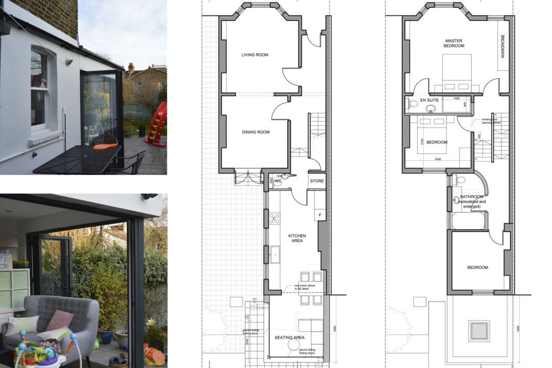 Architect designed rear house extension Penge east Bromley SE26 Floor plan drawings 1200x800 Penge East, Bromley SE26 | Rear house extension