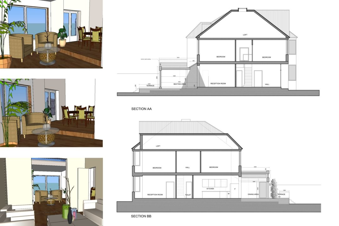 Grove Park Lewisham SE12 House Rear Extension Design Sections And 3D Images 1200x800