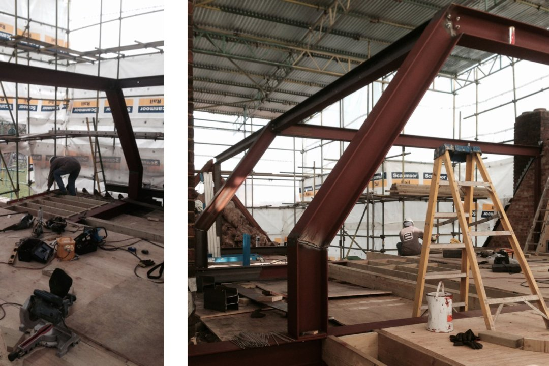 Architect designed roof flat extension Chiswick Hounslow W4 Steel frame construction 1200x800 Chiswick, Hounslow W4 | Roof extension to a flat
