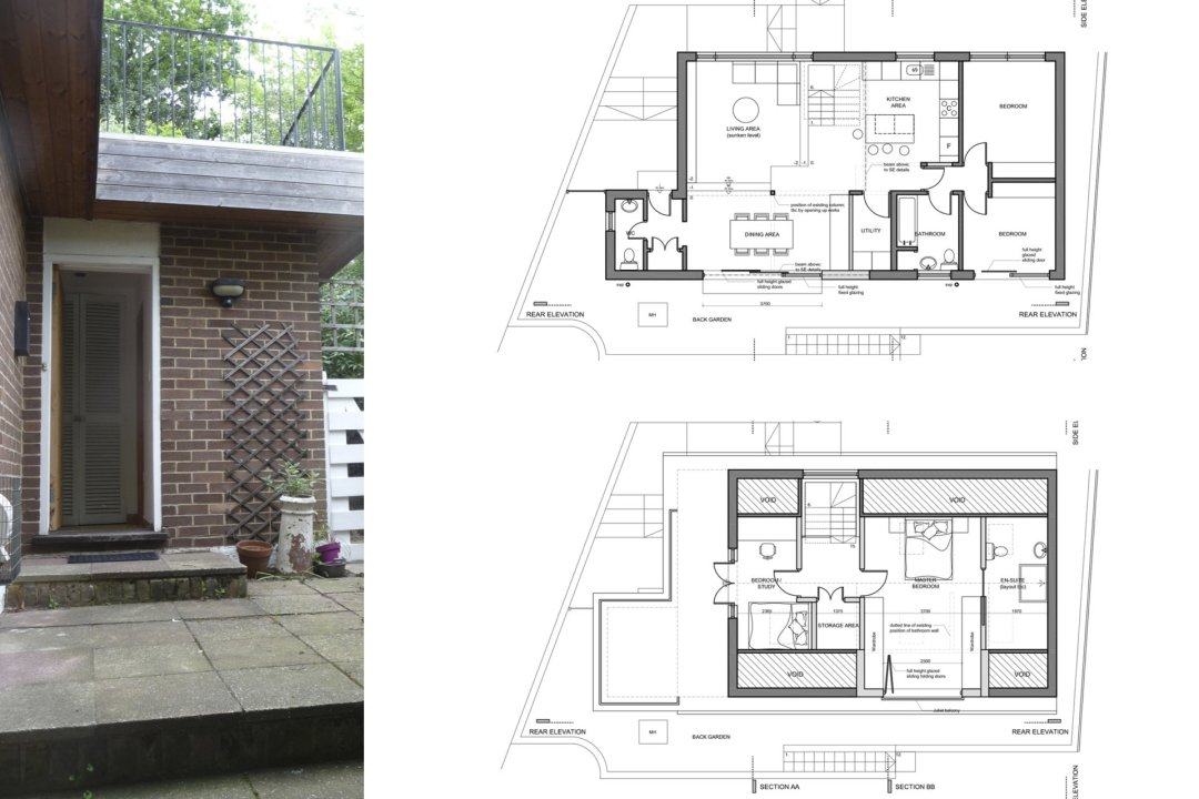 Architect designed roof extension Shortlands Bromley BR1 Floor plans 1200x800 Shortlands, Bromley BR1 | Roof extension