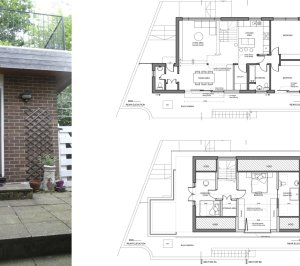Architect designed roof extension Shortlands Bromley BR1 Floor plans 300x266 Shortlands, Bromley BR1 | Roof extension