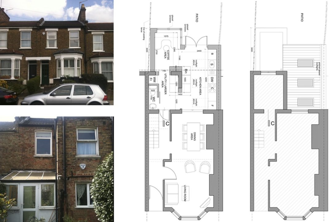 Finchley Central Barnet N3 rear house extension Floor plans Finchley Central Barnet N3 | Rear house extension
