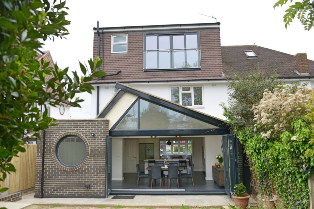 Architect designed roof and kitchen house extension Kingston KT2 Rear elevation 1200x800 Kingston KT2 | Roof and kitchen house extension