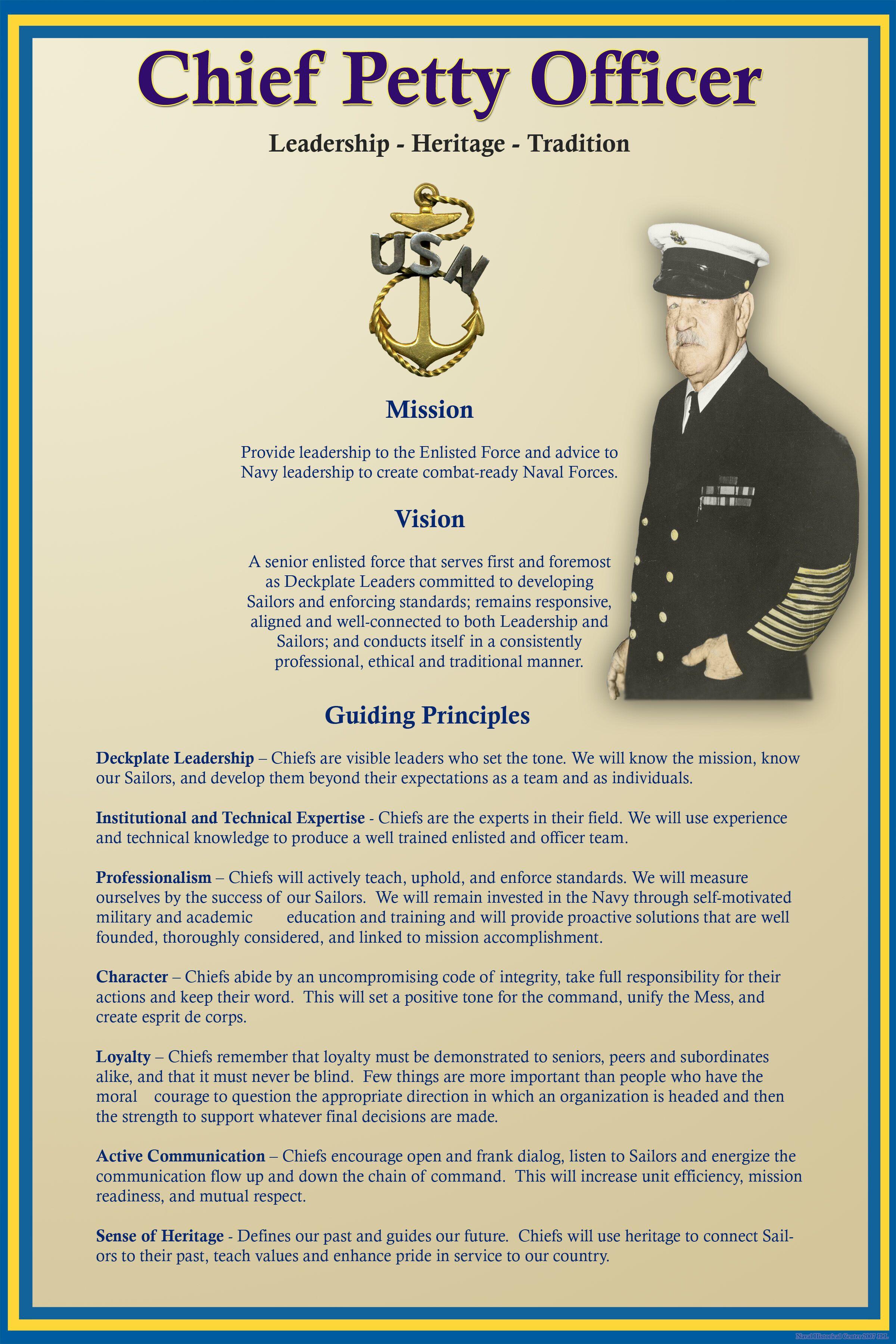 Navy Chief Leadership Quotes Quotesgram