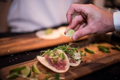 Squeeze of lime on tacos