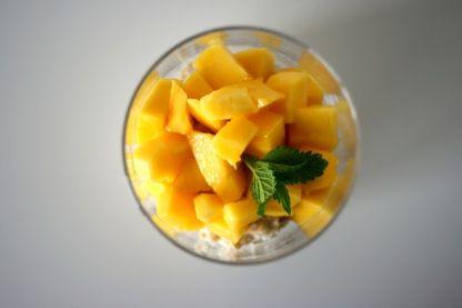 Kokosmilch Porridge mit Mango