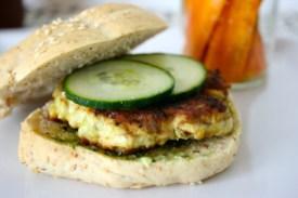 Chickenburger & Karottensticks