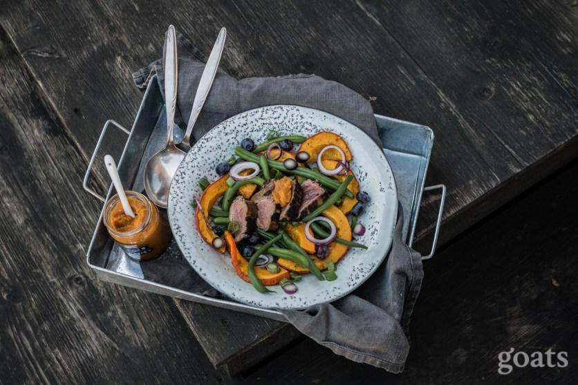 Kuerbis-Bohnen-Salat mit Rinderfilet (1 von 9)