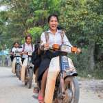 The kids on their way to school!