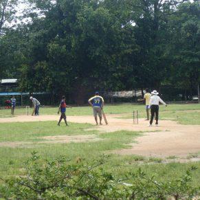 Cricket game in Sri Lanka