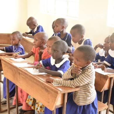 Children Learning in Tanzania