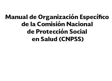 Manual de Organización Específico de la Comisión Nacional