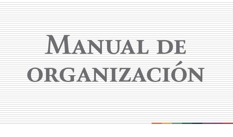 Manual de Organización de la Delegación SAGARPA en Hidalgo