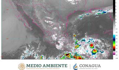 Mapa satelital de la República Mexicana