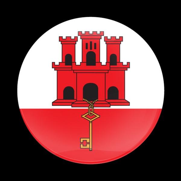 Magnetic Car Grille Dome Badge Flag Gibraltar