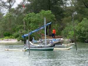 trimaran-Seberang-Belitung-Indonésie