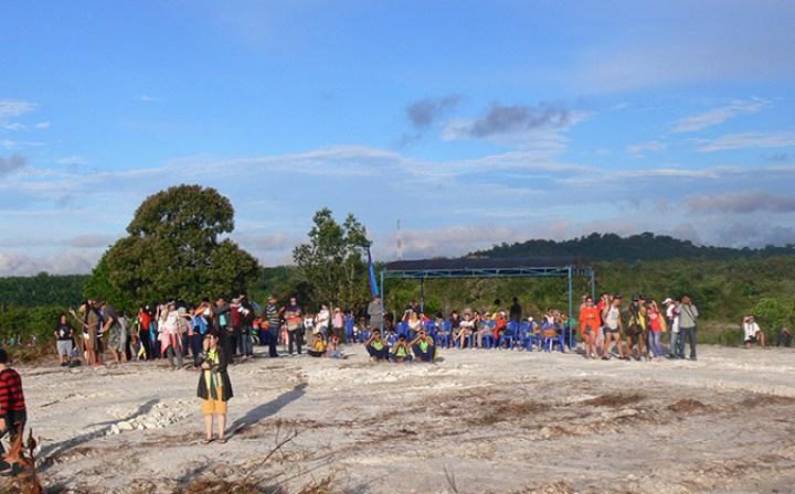 pret pour le spectacle Belitung Indonésie