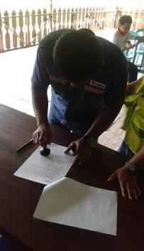 Signature du contrat entre Arsel et Pt Timah Belitung Indonésie