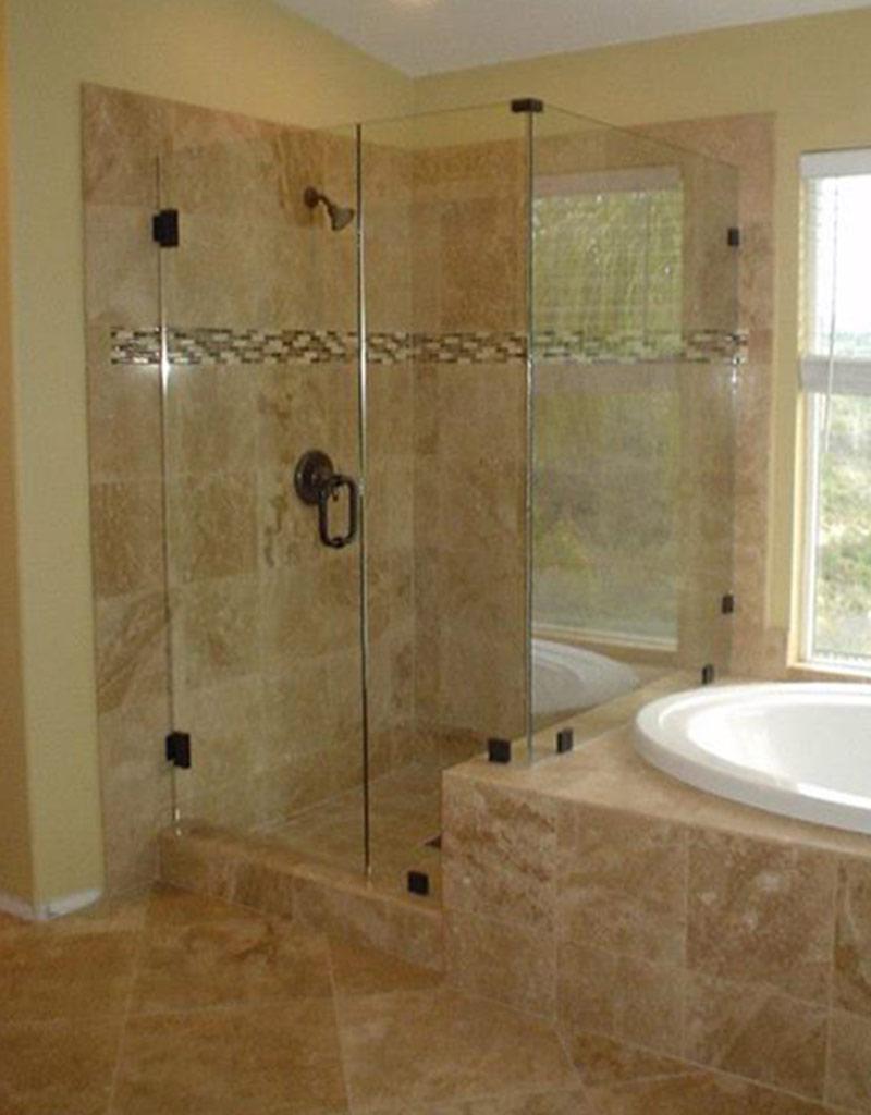 SHOWER DOOR GLASS BEST CHOICE  corner shower