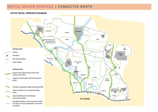 Glasgow North - principles of active travel map