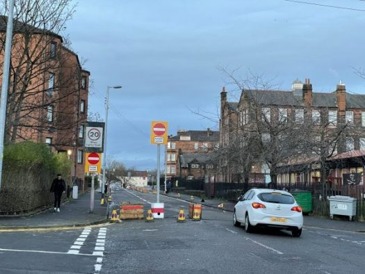 New 1-way on Armadale St, Dennistoun