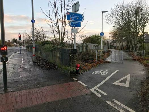 Hamilton Rd, Larkhall – NCN74 junction