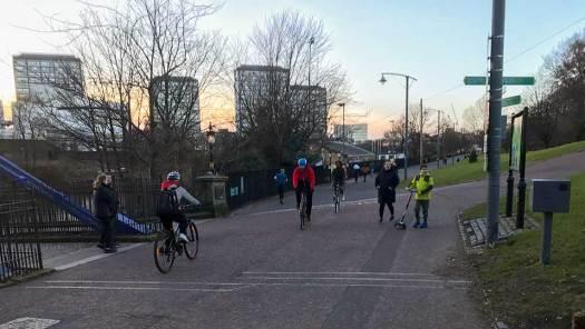 St Andrew's Bridge cycle counter