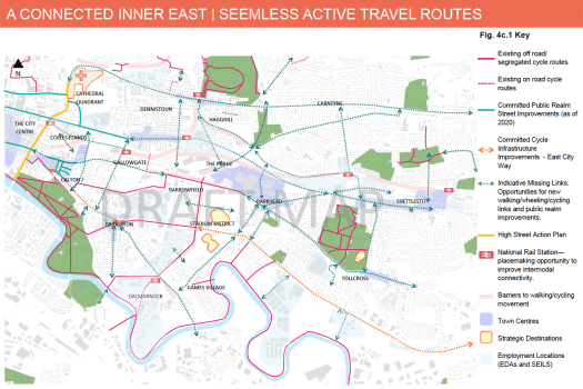 Map: Connected Inner East