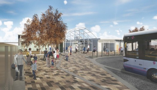 Visualisation of the new station