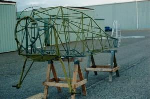 Monocoupe fuselage bare frame