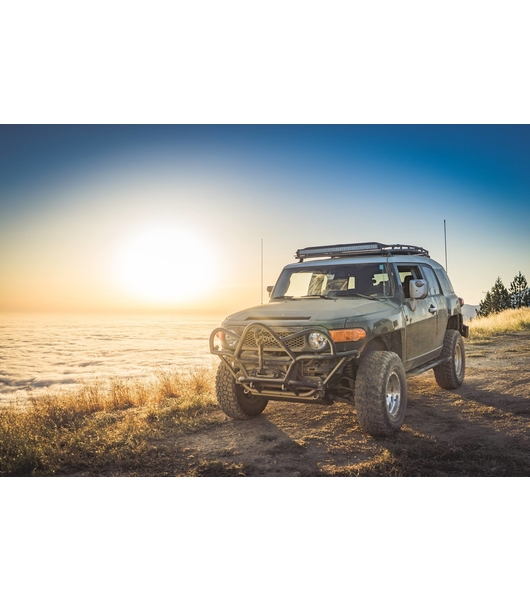 GOBI Toyota FJ Stealth Rack Lightbar Setup No Sunroof