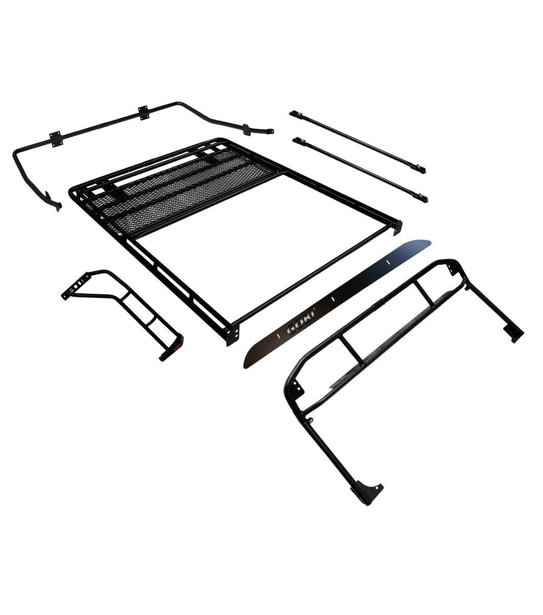 Gobi Jeep Tj Ranger Rack Multi Light Setup With Sunroof