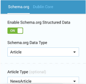 Schema markup settings