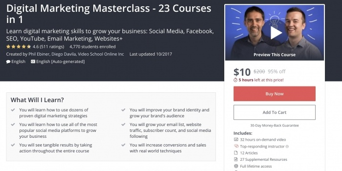 Digital Marketing Masterclass - 23 Courses in 1