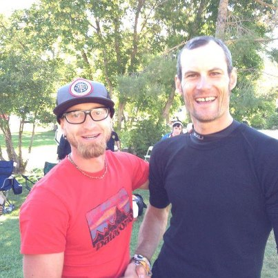 Jeff Browning and Mike LeRoux at 2012 Wasatch 100