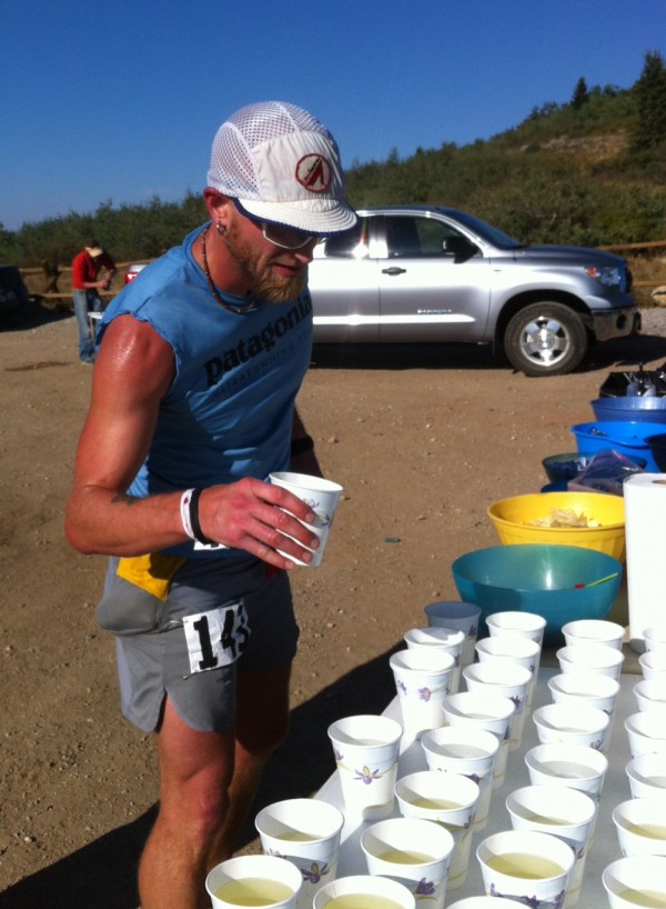 Jeff Browning at Mile 24 aid station