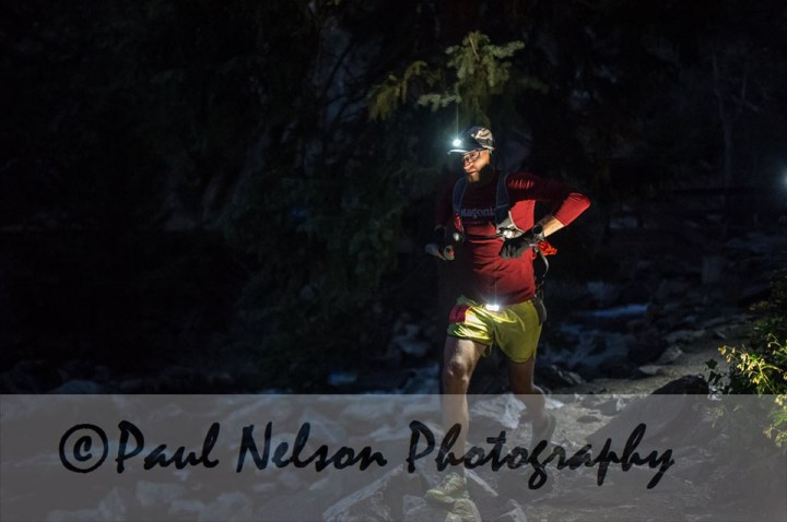 Heading into the night on Fish Cree Falls Trail.