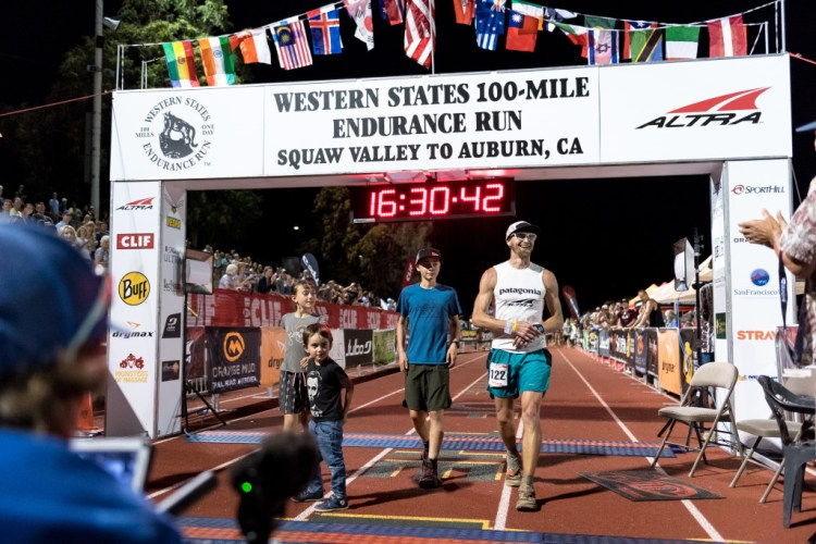 Crossing the finish line with my 3 kids. Photo by Matt Trappe.