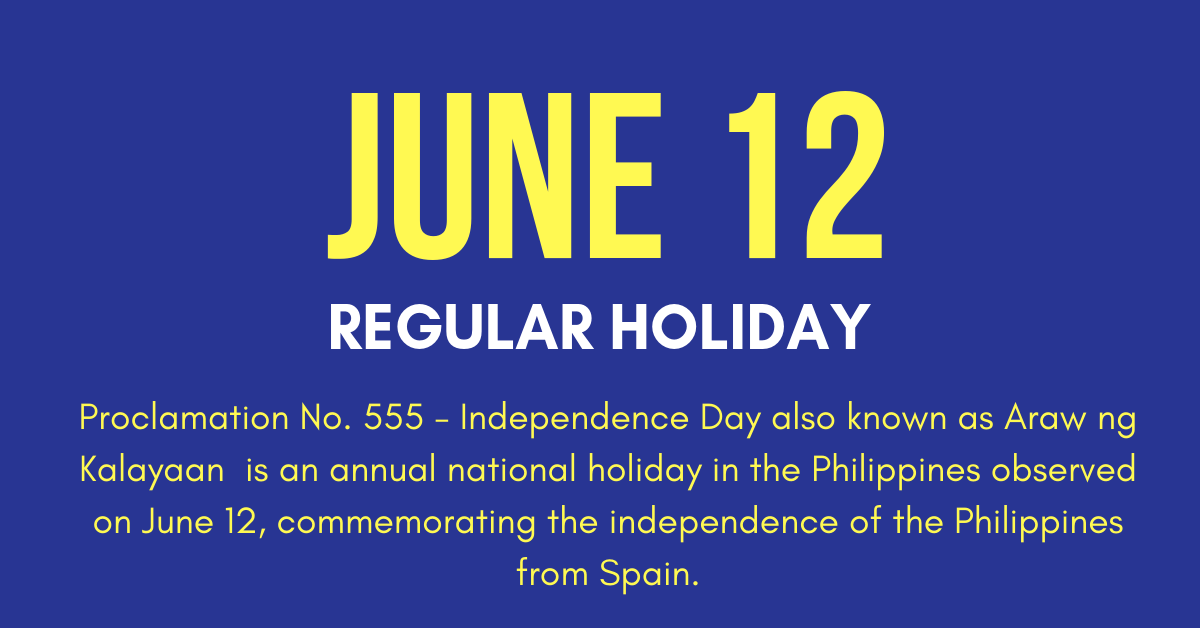 June 12 Holiday