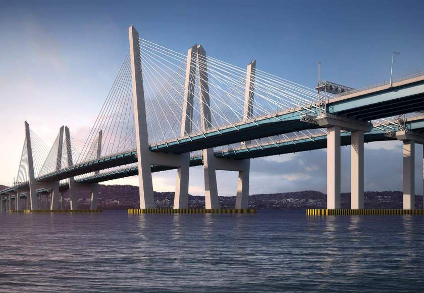 Image of new Tappan Zee Bridge over the Hudson River