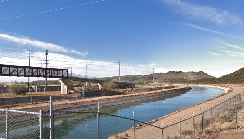 Photo of CAP aqueduct, Phoenix AZ