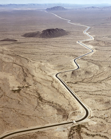 Aerial photo of CAP aqueduct