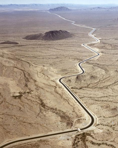 Aerial photo of CAP aqueduct