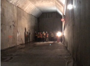 Photo of right-of-way tunnel casing under Hudson Yards