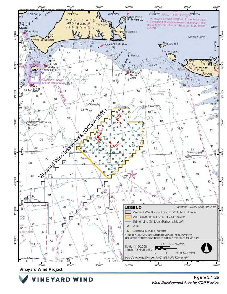 Map to show location of Vineyard Wind offshore project