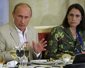 Photo of Vladimir Putin and Fiona Hill, Moscow, November 2011